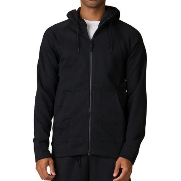 8caf34c5b35 Jordan Shirts   Mens All Black Zip Up Hoodie Nwt   Poshmark